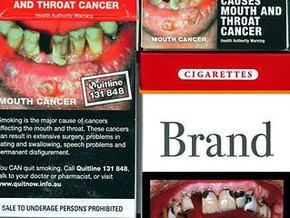 С пачек сигарет будет смотреть смерть