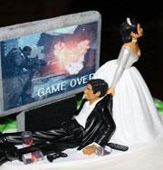 Смешные свадебные торты. Фото