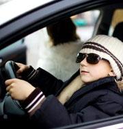 Полиция не придумала наказания для 4-летнего водителя
