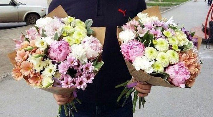 Варианты оформления букетов цветов
